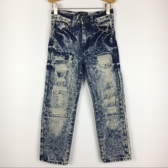 Road Narrows Other - Road Narrows Destroyed Acid Wash Jeans Boys Size 7